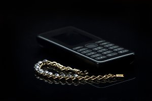 Jewelry and cell phone