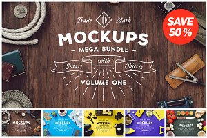 25 Mockups Mega Bundle - vol. 1