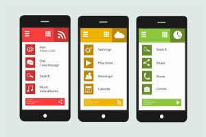 Smartphone material design vector