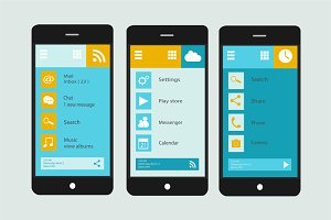 Smartphone interface material design