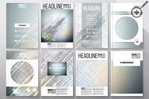 Set of templates for brochures