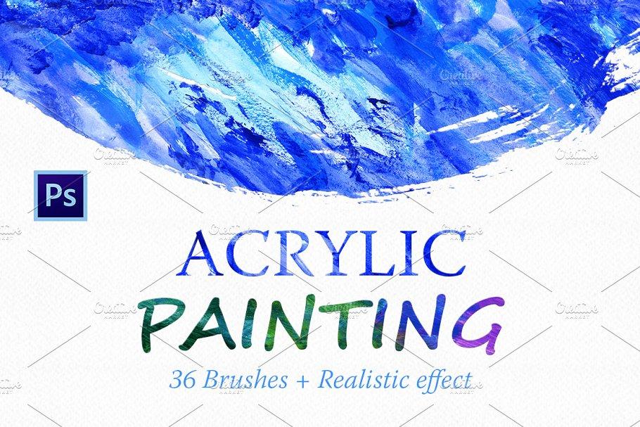 Acrylic Brushes for Photoshop ~ Photoshop Add-Ons ~ Creative Market