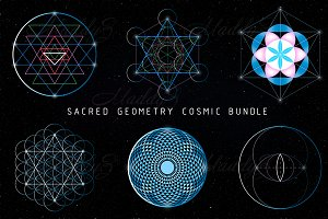 Sacred Geometry Cosmic Vector Bundle