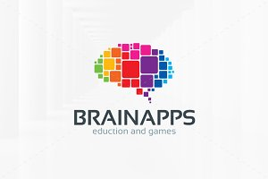 Brain Apps Logo Template