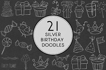 Silver Birthday Doodles