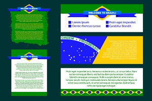 Brazil backgrounds for banners
