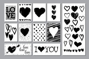 Love hearts textures