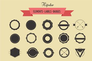 badges and labels, logo template