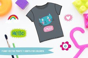 Vector prints t-shirts for children