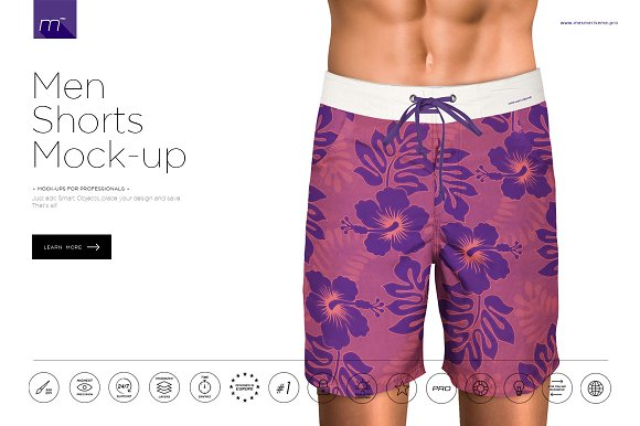 Download Men Shorts Mock-up