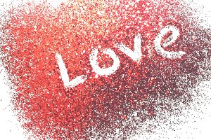 Simply Red: Glitter Stock Image