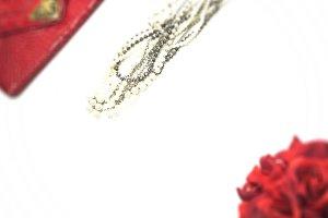 Simply Red: Rose & Pearl Mockup #1