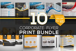 10 Corporate Flyer Bundle