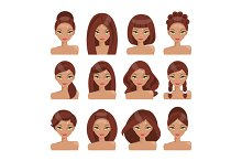 Girls with different hairstyles