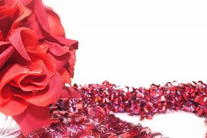Simply Red: Heart Wreath Rose Mockup