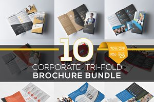 10 Tri Fold Brochure Bundle