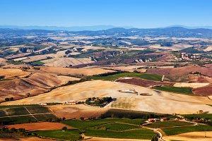 Tuscany landscape panorama.