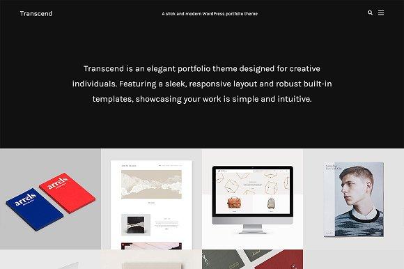 Transcend Modern Portfolio Theme WordPress Portfolio Themes - Wordpress portfolio template