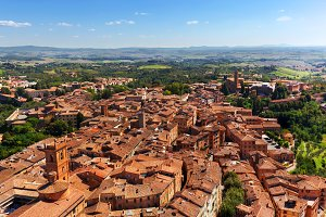 Siena - panoramic city view.