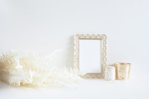 Golden Hour Styled Frame Stock Photo
