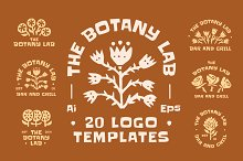 The Botany Lab Logo Templates by  in Templates