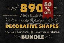 890 Handwritten Shapes (50% OFF)