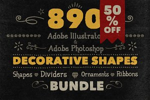 890 Handwritten Shapes (50% OFF)
