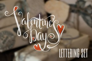 Lettering set for Valentine's Day