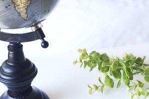 Globe & Green Stock Imagee
