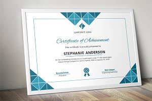 Triangles corporate Word certificate