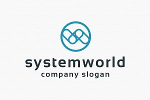 System World Logo Template