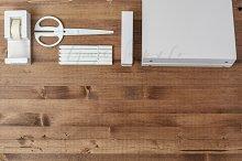 White on Wood Styled Desktop