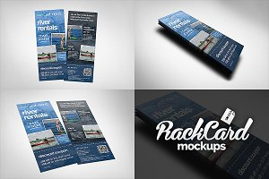Rack Card Mockups Pack