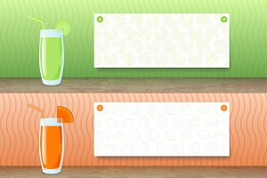 6 Vegetable Juice Banners