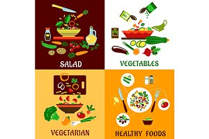 Health vegetarian salads
