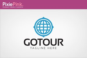 Go Tour Logo Template