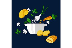 Fresh dinner cooking design