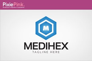 Medi Hex Logo Template