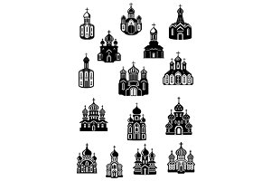Temples, church and shrine icons