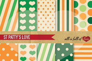 St Patricks Day Retro Patterns