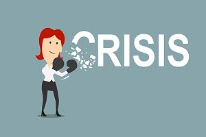 Businesswoman beats the crisis