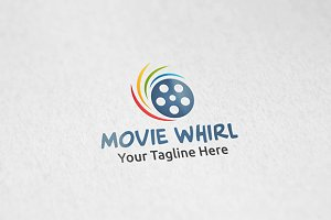 Movie Whirl - Logo Template