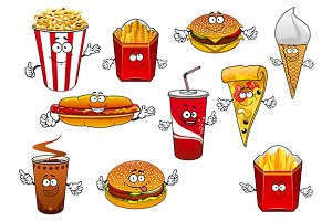 Fast food snacks and drinks