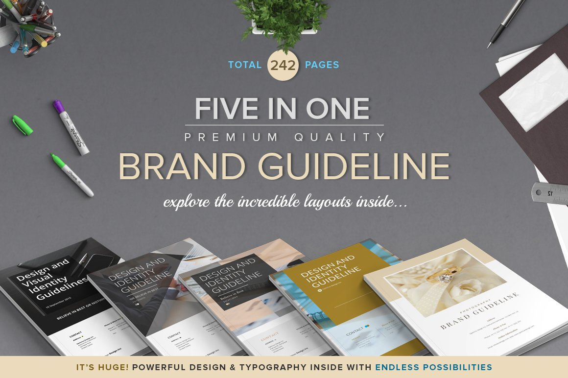Save Up To 70% - Five in One Bundle ~ Brochure Templates ~ Creative ...