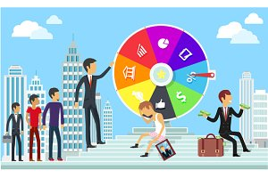 Wheel of Business Fortune  Concept