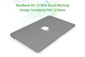 MacBook Air 13 Skin Design Mock-up