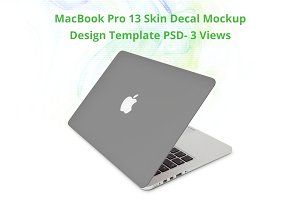MacBook Pro Skin Design Mockup