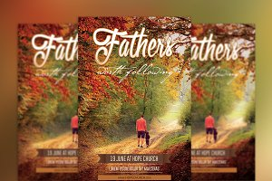 Fathers Day Flyer Poster PSD