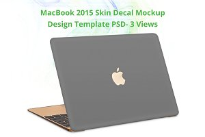 New MacBook 2015 Skin Design Mockup-