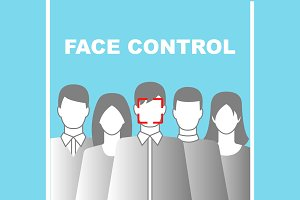 3 Face Control Posters